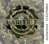 carefree on camouflaged pattern | Shutterstock .eps vector #1132296863