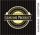 genuine product gold shiny... | Shutterstock .eps vector #1132297106