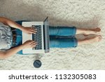 the concept of blogging ... | Shutterstock . vector #1132305083