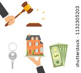 concept of real estate trading  ... | Shutterstock .eps vector #1132305203