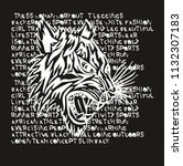 tattoo tribal tiger graphic... | Shutterstock .eps vector #1132307183