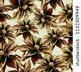 seamless background. flowers.... | Shutterstock . vector #1132309949