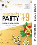 christmas party invitation... | Shutterstock .eps vector #1132310306