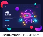 vr games website concept banner ... | Shutterstock .eps vector #1132311374