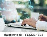 double exposure of blockchain... | Shutterstock . vector #1132314923