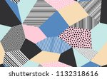 abstract patchwork pattern... | Shutterstock .eps vector #1132318616