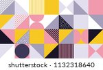 geometric pattern design of... | Shutterstock .eps vector #1132318640
