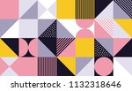 geometric pattern background of ... | Shutterstock .eps vector #1132318646