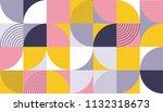 geometric pattern design of... | Shutterstock .eps vector #1132318673