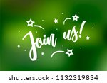 join us card. beautiful... | Shutterstock .eps vector #1132319834