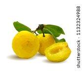 fresh  nutritious  tasty yellow ... | Shutterstock .eps vector #1132324988