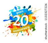 twenty years anniversary.... | Shutterstock .eps vector #1132327226