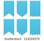 retro ribbons a tags | Shutterstock .eps vector #113233270