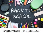 back to school background  copy ... | Shutterstock . vector #1132338653