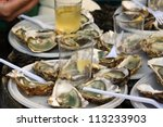 Fresh Oysters And White Wine O...