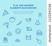 food outline vector icons and... | Shutterstock .eps vector #1132342106