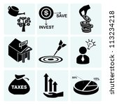 investment  icon set  asset... | Shutterstock .eps vector #113234218