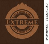 extreme retro style wood emblem | Shutterstock .eps vector #1132346150