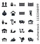 set of vector isolated black... | Shutterstock .eps vector #1132348499