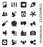 set of vector isolated black... | Shutterstock .eps vector #1132349813