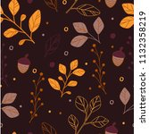 Seamless Pattern Leaves Branch...