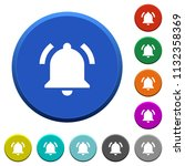 active notification round color ... | Shutterstock .eps vector #1132358369