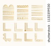 collection of decorative golden ... | Shutterstock .eps vector #1132359530
