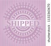 shipped pink emblem. retro | Shutterstock .eps vector #1132363670