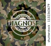 diagnose camouflaged emblem | Shutterstock .eps vector #1132363679