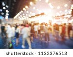 abstract blurred event with... | Shutterstock . vector #1132376513