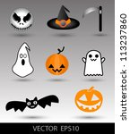 halloween set cute  can use for ... | Shutterstock .eps vector #113237860