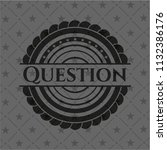 question black emblem | Shutterstock .eps vector #1132386176