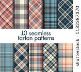 set of seamless tartan patterns | Shutterstock .eps vector #1132387370