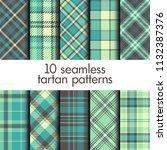 set of seamless tartan pattern | Shutterstock .eps vector #1132387376