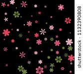 cute floral pattern with simple ...   Shutterstock .eps vector #1132390808