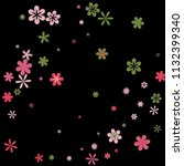 cute floral pattern with simple ...   Shutterstock .eps vector #1132399340