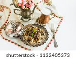traditional islamic feast... | Shutterstock . vector #1132405373