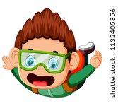 vector illustration of skydiver ... | Shutterstock .eps vector #1132405856