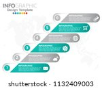 infographic design vector... | Shutterstock .eps vector #1132409003