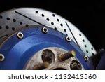 race car's disc brake   high... | Shutterstock . vector #1132413560