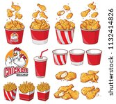 collection element fast food... | Shutterstock .eps vector #1132414826