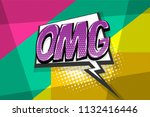 omg ouch oops wow comic text... | Shutterstock .eps vector #1132416446