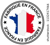 round patch   made in france  ... | Shutterstock .eps vector #1132417466