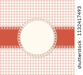 banner and empty patch on red... | Shutterstock .eps vector #1132417493