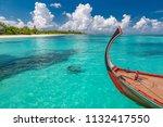 inspirational maldives beach... | Shutterstock . vector #1132417550