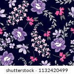 roses pattern with bouquet... | Shutterstock .eps vector #1132420499