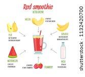 cocktail infographics. various... | Shutterstock .eps vector #1132420700