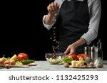 freezer food prepare in process ... | Shutterstock . vector #1132425293