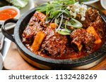 delicious braised spicy short... | Shutterstock . vector #1132428269