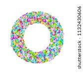 vector colorful gem stones font ... | Shutterstock .eps vector #1132430606